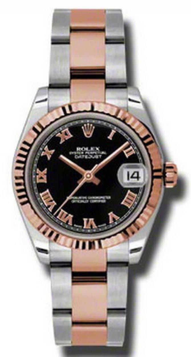 Rolex 178271 bkro Datejust Ladies Steel and Everose Gold - фото 1