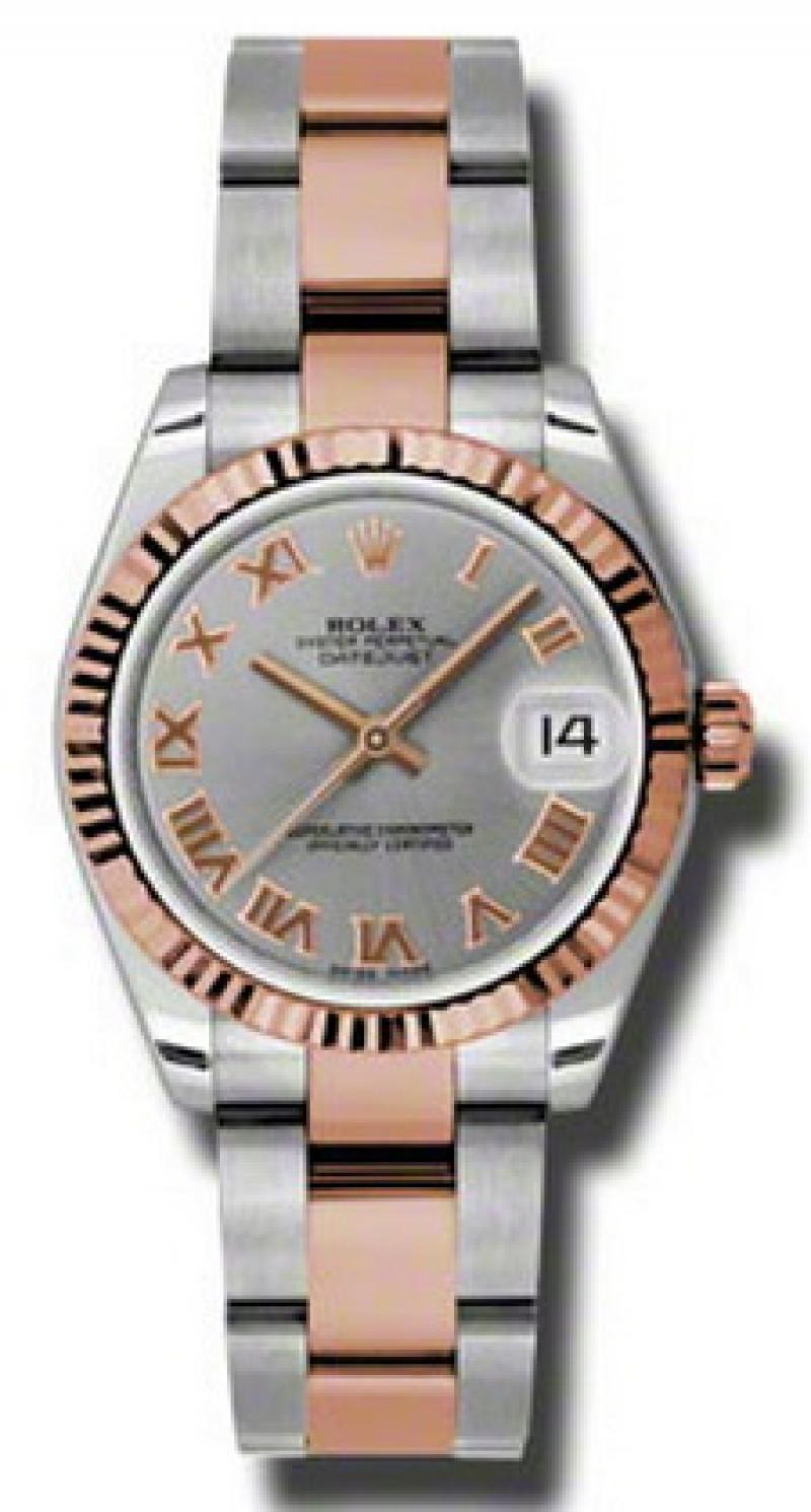 178271 gro Rolex Steel and Everose Gold Datejust Ladies