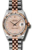 Rolex Datejust Ladies 178271 pchdj Steel and Everose Gold