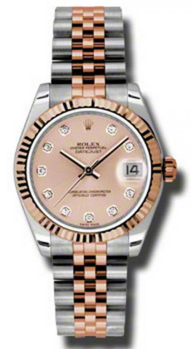 Rolex 178271 pchdj Datejust Ladies Steel and Everose Gold - фото 1