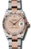 Rolex Datejust Ladies 178271 pchdo Steel and Everose Gold