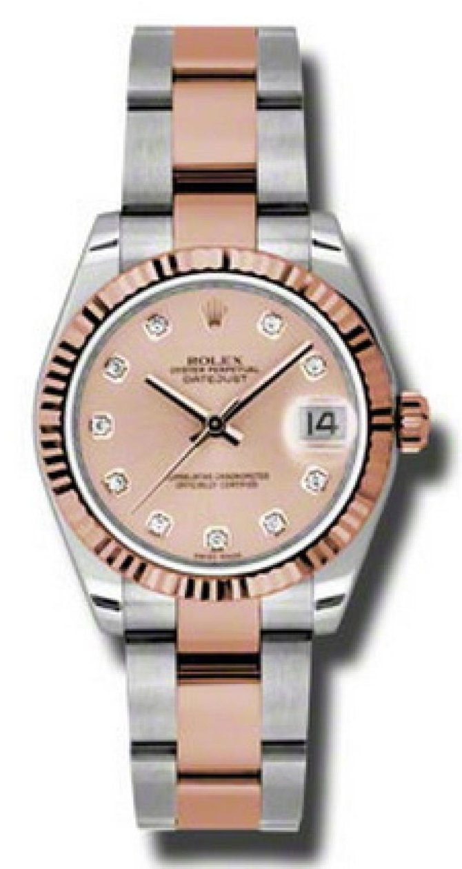 Rolex 178271 pchdo Datejust Ladies Steel and Everose Gold - фото 1