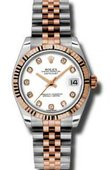 Rolex Datejust Ladies 178271 wdj Steel and Everose Gold