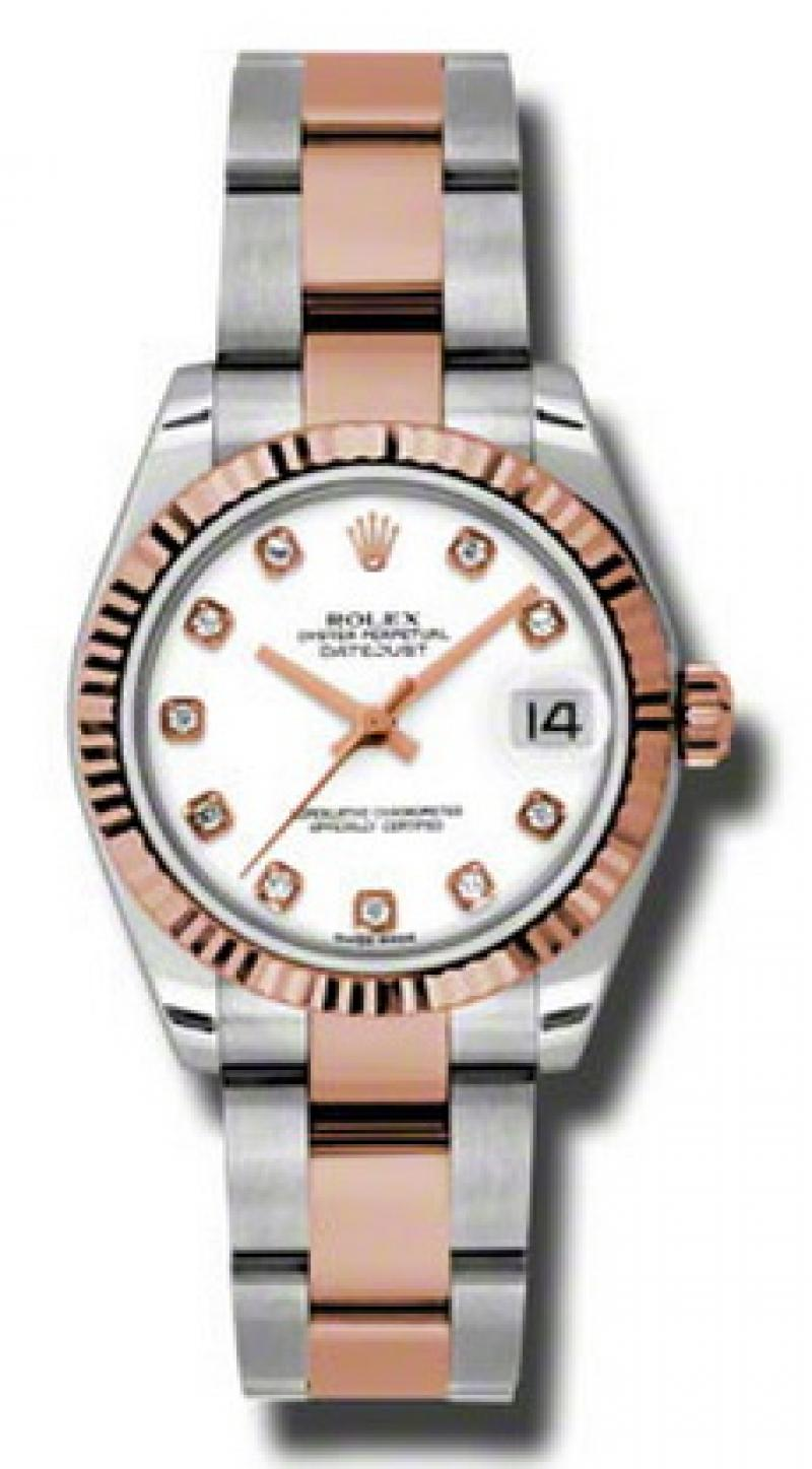 178271 wdo Rolex Steel and Everose Gold Datejust Ladies
