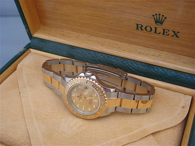 Rolex 169623 Champaigne Yacht Master II Yacht-Master 29mm Steel and Yellow Gold - фото 4