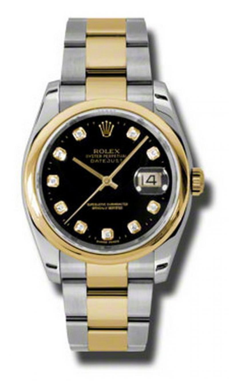 116203 bkdo Rolex Steel and Yellow Gold Datejust