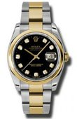 Rolex Datejust 116203 bkdo Steel and Yellow Gold