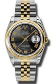 Rolex Datejust 116203 bksbrj Steel and Yellow Gold