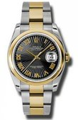 Rolex Datejust 116203 bksbro Steel and Yellow Gold