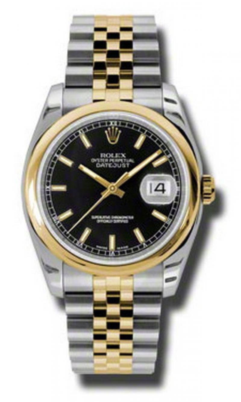 116203 bksj Rolex Steel and Yellow Gold Datejust
