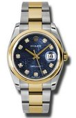 Rolex Datejust 116203 bljdo Steel and Yellow Gold