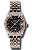 Rolex Datejust Ladies 178341 bkdrj Steel and Everose Gold