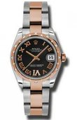 Rolex Datejust Ladies 178341 bkdro Steel and Everose Gold