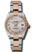 Rolex Datejust Ladies 178341 mdro Steel and Everose Gold