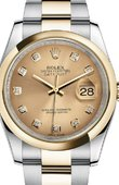 Rolex Datejust 116203 chdo Steel and Yellow Gold