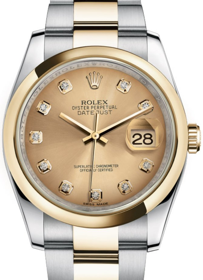Rolex 116203 chdo Datejust Steel and Yellow Gold