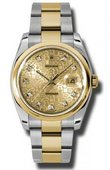Rolex Datejust 116203 chjdo Steel and Yellow Gold