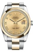 Rolex Datejust 116203 chro Steel and Yellow Gold