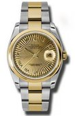 Rolex Datejust 116203 chsbro Steel and Yellow Gold