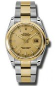 Rolex Datejust 116203 chso Steel and Yellow Gold