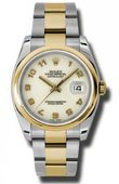 Rolex Datejust 116203 ijao Steel and Yellow Gold