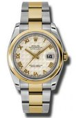 Rolex Datejust 116203 ipro Steel and Yellow Gold