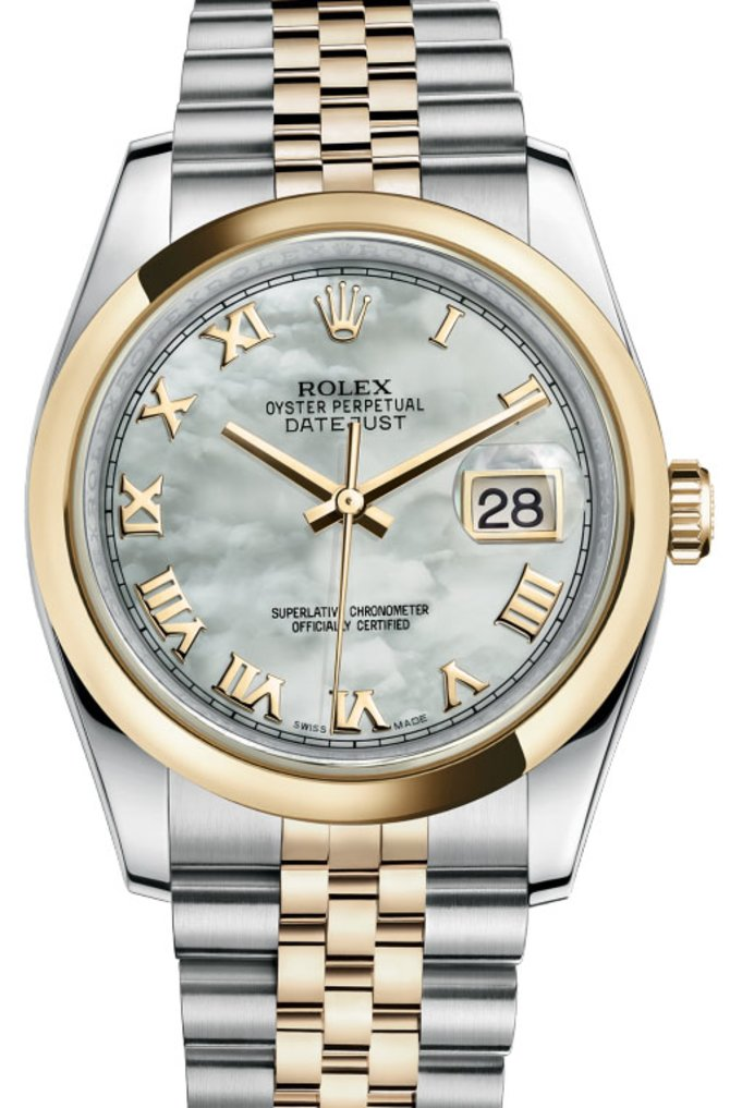 Rolex 116203 mrj Datejust Steel and Yellow Gold