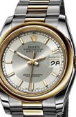 Rolex Datejust 116203 silver Steel and Yellow Gold