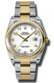 Rolex Datejust 116203 wao Steel and Yellow Gold