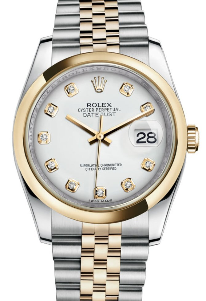 Rolex 116203 wdj Datejust Steel and Yellow Gold