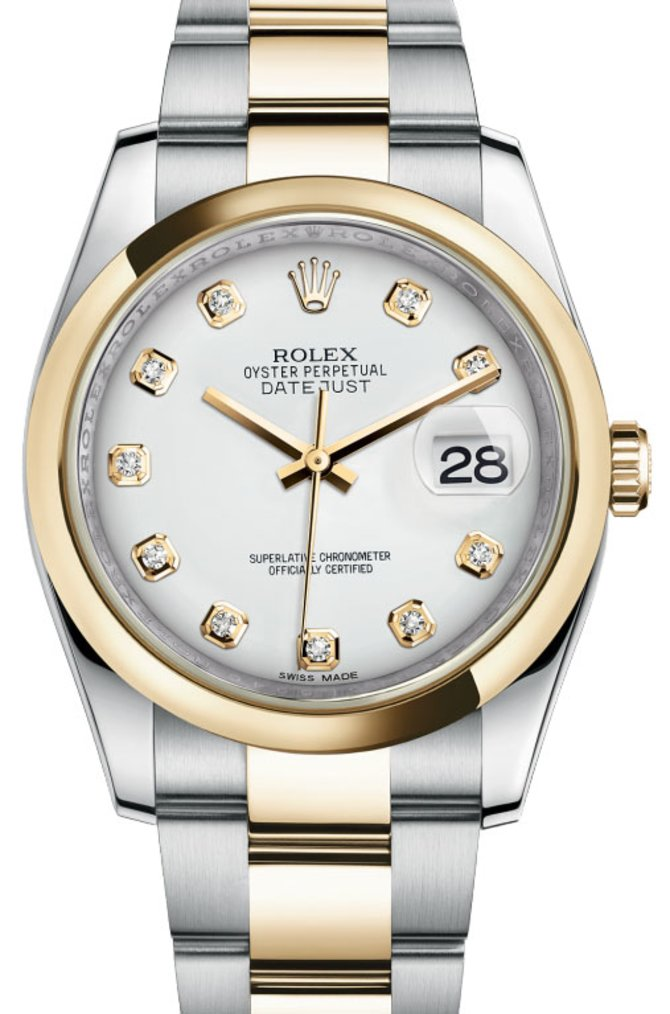 Rolex 116203 wdo Datejust Steel and Yellow Gold