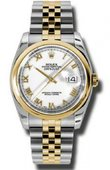 Rolex Datejust 116203 wrj Steel and Yellow Gold