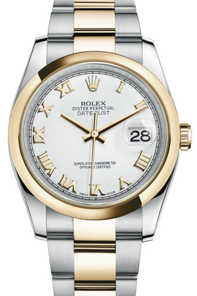 Rolex 116203 wro Datejust Steel and Yellow Gold