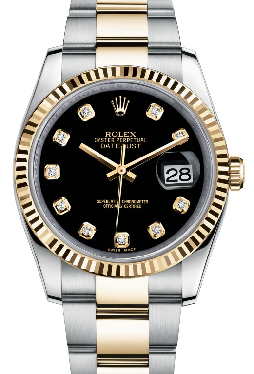 116233 bkdo Rolex Steel and Yellow Gold Datejust