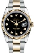 Rolex Datejust 116233 bkdo Steel and Yellow Gold