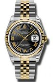 Rolex Datejust 116233 bksbrj Steel and Yellow Gold