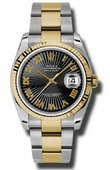 Rolex Datejust 116233 bksbro Steel and Yellow Gold