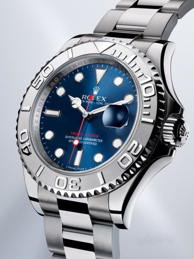 Rolex 116622 Blue Yacht Master II 40mm Platinum and Steel - фото 5