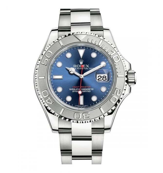 Rolex 116622 Blue Yacht Master II 40mm Platinum and Steel - фото 1