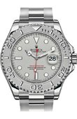 Rolex Yacht Master II 116622 Silver 40mm Platinum and Steel