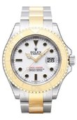 Rolex Yacht Master II 16623 White 40mm Steel and Yellow Gold