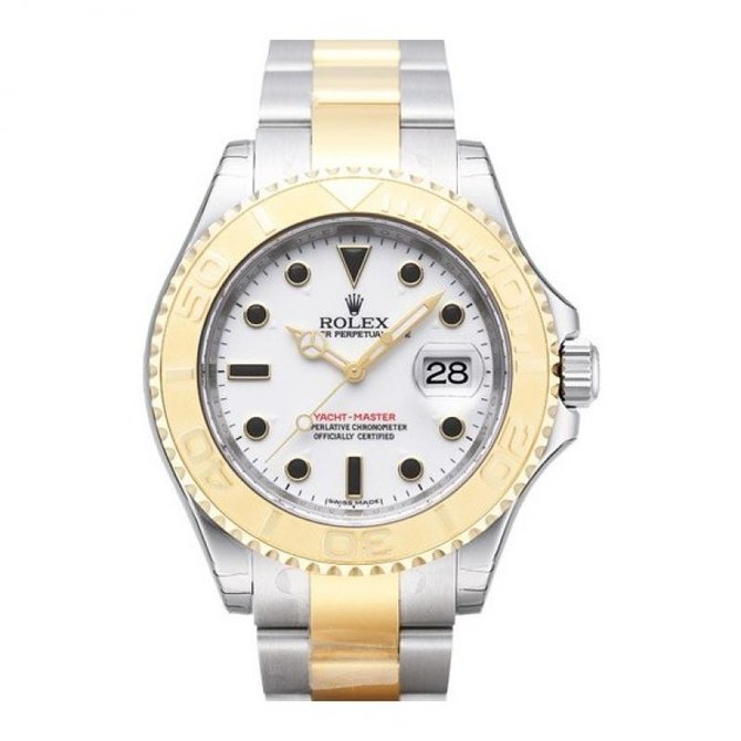 Rolex 16623 White Yacht Master II 40mm Steel and Yellow Gold - фото 1