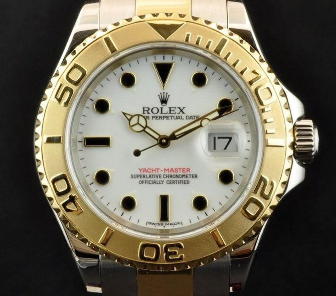 Rolex 16623 White Yacht Master II 40mm Steel and Yellow Gold - фото 3