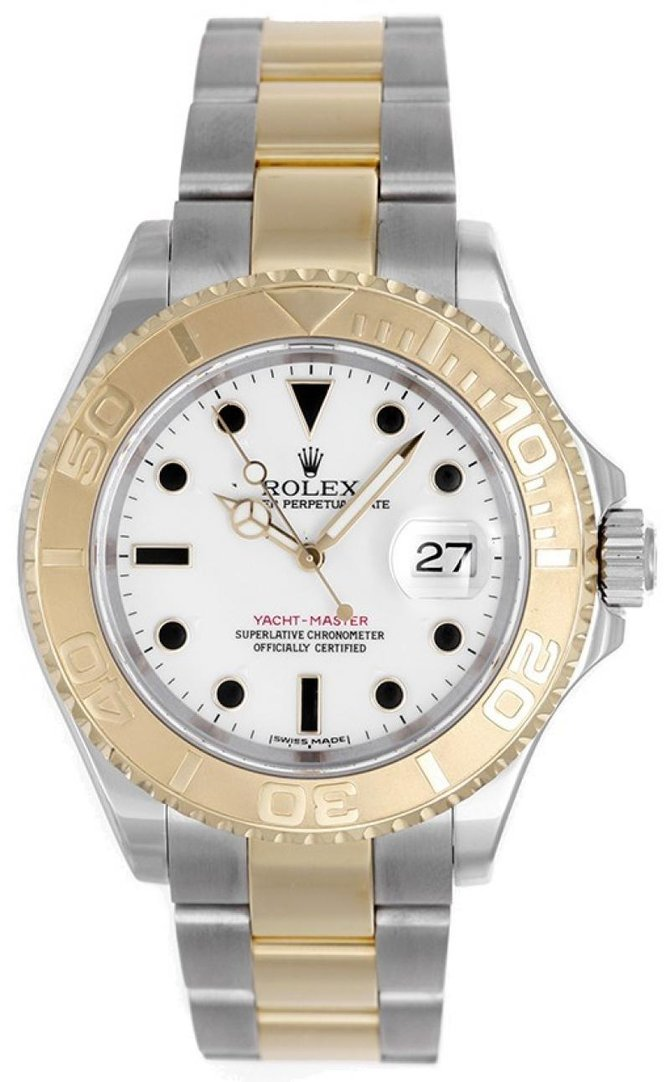Rolex 16623 White Yacht Master II 40mm Steel and Yellow Gold - фото 2