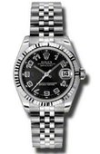 Rolex Datejust Ladies 178274 bkcaj Steel and White Gold