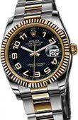 Rolex Datejust 116233 black Steel and Yellow Gold