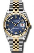 Rolex Datejust 116233 blcaj Steel and Yellow Gold