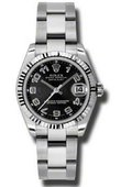 Rolex Datejust Ladies 178274 bkcao Steel and White Gold