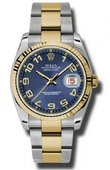 Rolex Datejust 116233 blcao Steel and Yellow Gold
