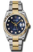 Rolex Datejust 116233 bljdo Steel and Yellow Gold